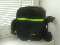Барсетка, сумка мужская черная кож.зам Найк, Nike, ф1629