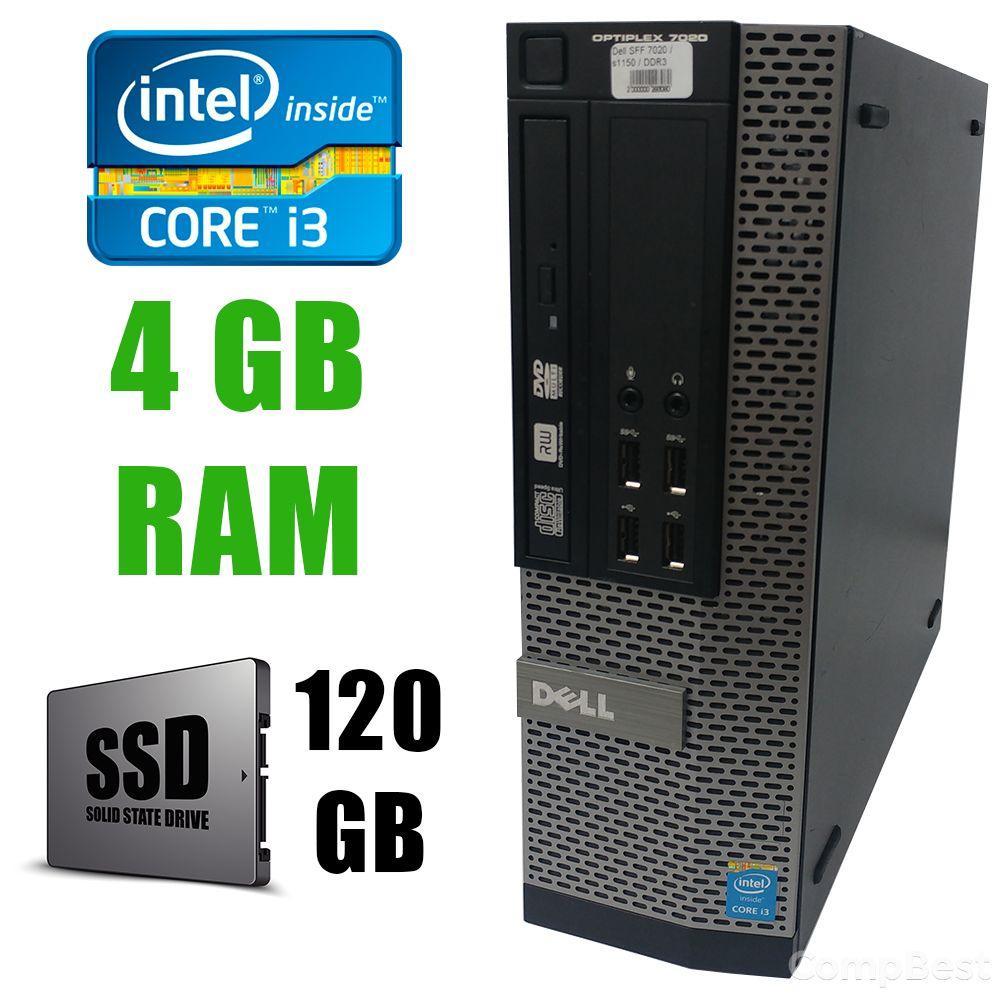 Dell 7020 SFF / Intel Сore i3-4130 (2(4)ядра по 3.40GHz)/ 4GB DDR3/ new! 120GB SSD/ VGA, DP, USB 3.0