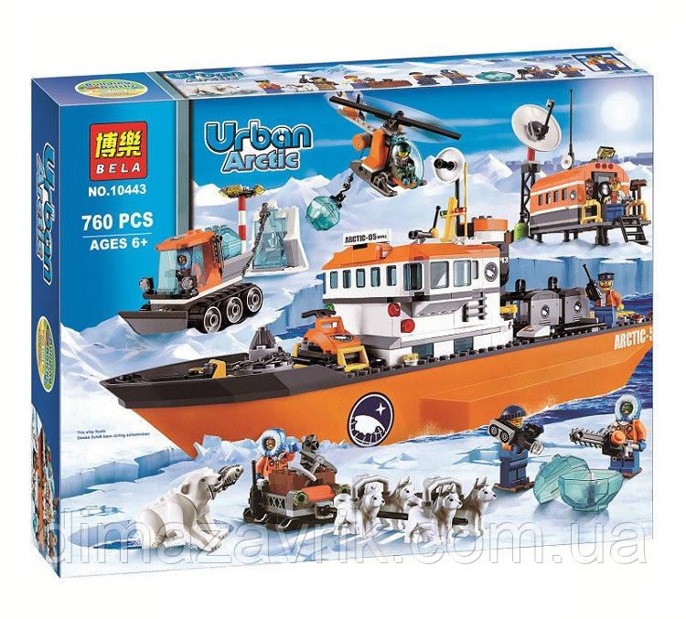 """Конструктор Bela 10443 (Аналог Lego City 60062) """"Арктический ледокол""""760 деталей"""