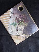 Доска деревянная декорирована в технике декупаж, 75\70(цена за 1 шт.+5 грн)