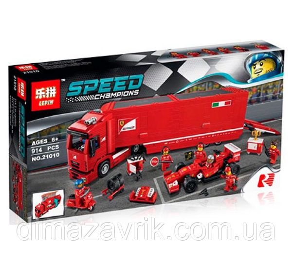 "Конструктор Lepin 21010 (Аналог Lego Speed Champions 75913) ""F14 T И SCUDERIA FERRARI"" 914 деталей"
