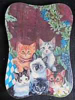"Доска деревянная ""Кошечки"" (декупаж), 26х18,5 см, 95\90 (цена за 1 шт.+5 грн)"