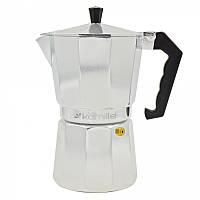 Кофеварка гейзерная 150мл (3 чашки) из алюминия