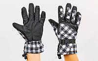 Перчатки горнолыжные теплые женские B-120 (р-р M-L, L-XL, цвета в ассортименте, уп.-12пар, цена за 1пару)