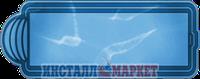 Бассейн Голубая лагуна большой прямоугольный, со ступенями 8,00 х3,20 х 1,50 м