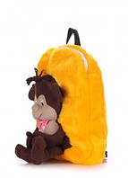 Детский рюкзак POOLPARTY с обезьяной (kiddy-backpack-monkey-sunny)