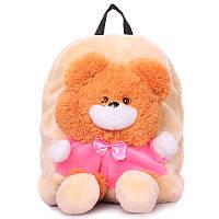 Детский рюкзак POOLPARTY с медведем (kiddy-backpack-bear-orange)