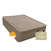 Двухспальная велюр кровать со встроенным насосом 220V Intex 67954