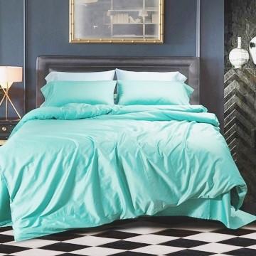 Однотонное постельное белье  Нежная мята MINT, сатин, разные размеры двуспальный