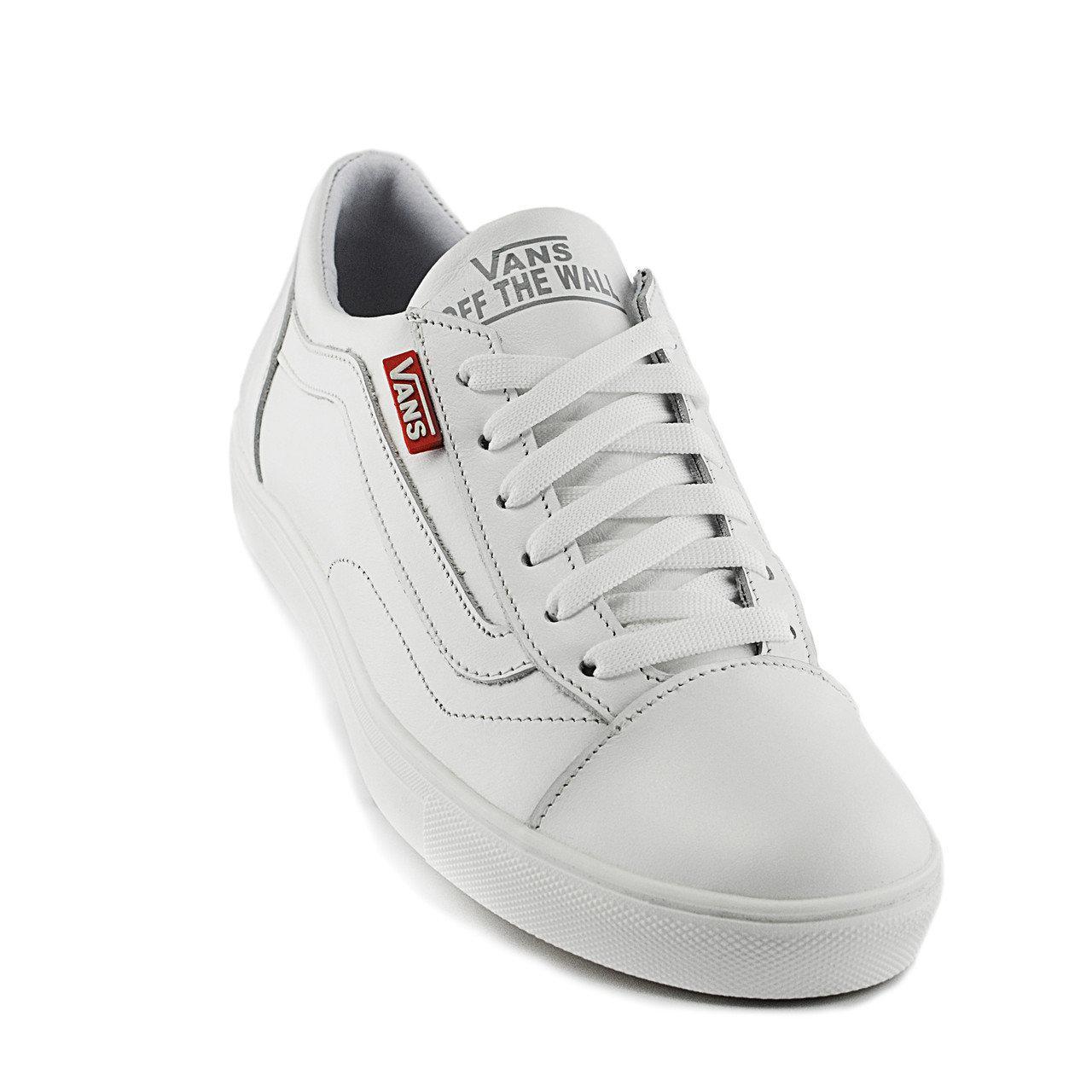 Кеды мужские кожаные в стиле Vans Clasic White