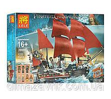 """Конструктор Lele 39008 (Аналог Lego Pirates of the Caribbean 4195) """"Месть Королевы Анны""""1222 детали"""