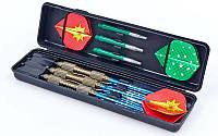Дротики для игры в дартс каплевидные 3шт BL-3400 Baili (вольфрам,вес 21гр,3шт.,+3хвост,+6опер, футляр)
