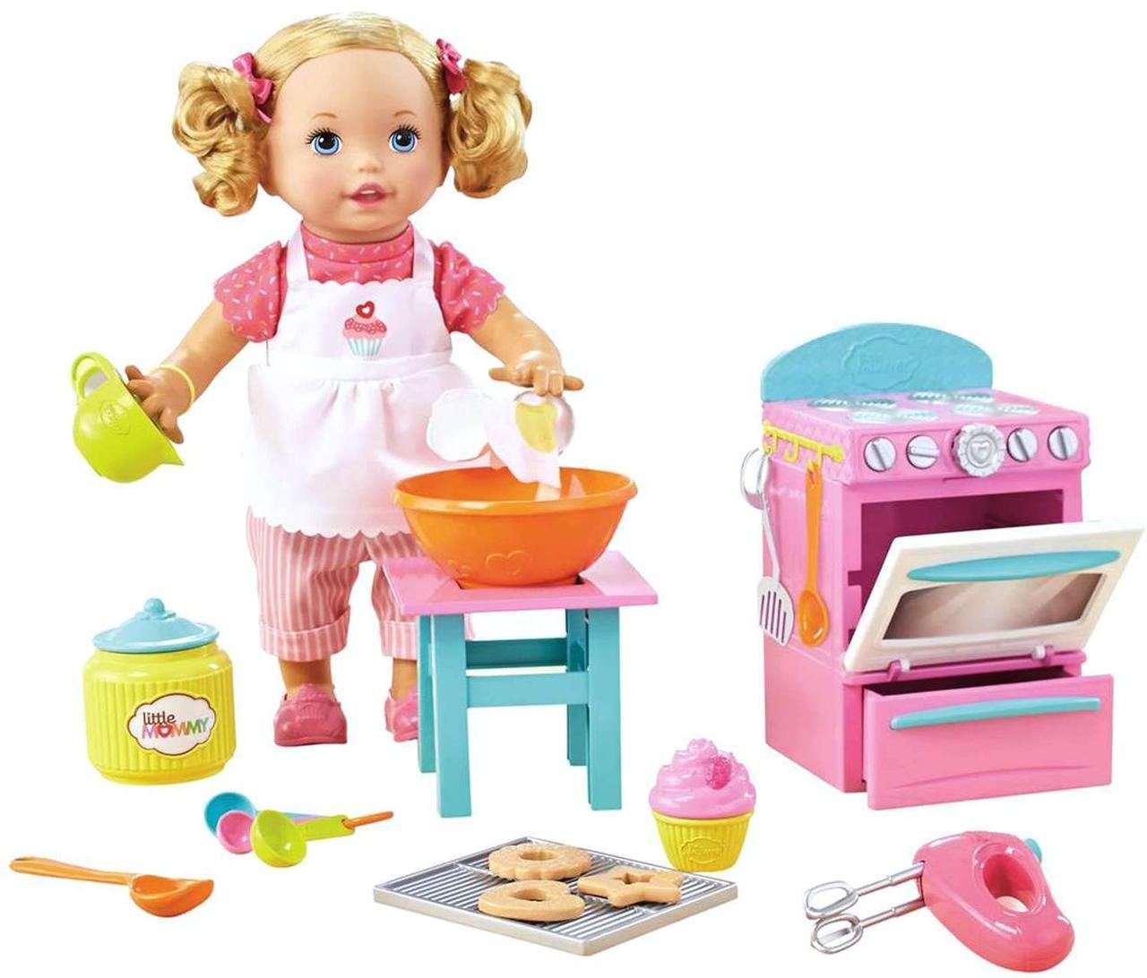Кукла пупс Маленькая мама Пекарь Little Mommy Bake with Me Baby born
