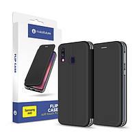 Чехол-книжка для Flip Case (Soft-Touch PU) Samsung A40 MakeFuture Black