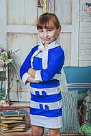 Сарафан с болеро  для девочки синий, фото 1