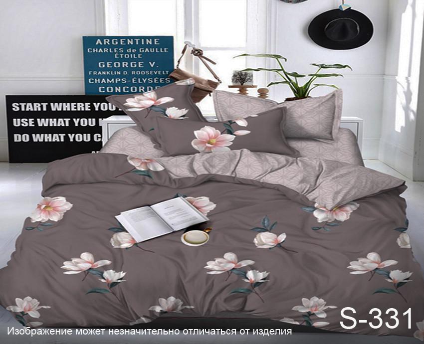 Комплект постельного белья из сатина с компаньоном S331,  разные размеры