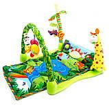 """Детский развивающий коврик """"Тропический лес"""". Музыкальные эффекты. Мягкие игрушки. BabyGift  3059, фото 2"""