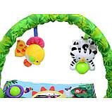 """Детский развивающий коврик """"Тропический лес"""". Музыкальные эффекты. Мягкие игрушки. BabyGift  3059, фото 5"""