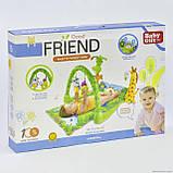 """Детский развивающий коврик """"Тропический лес"""". Музыкальные эффекты. Мягкие игрушки. BabyGift  3059, фото 6"""