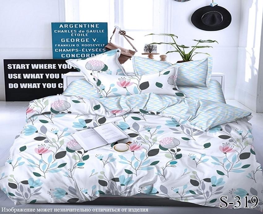 Комплект постельного белья из сатина с компаньоном Нежность S319,  разные размеры