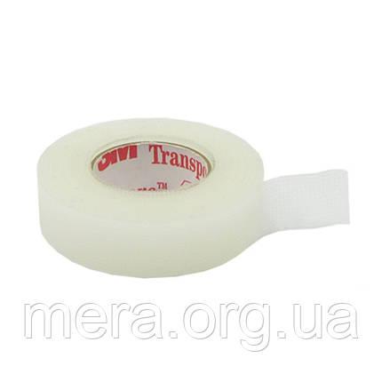 Пластырь на основе перфорированного пластика 3M™ Transpore™, (1,25см х 9,1м.), фото 2
