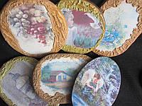 Распродажа! Картинки деревянные ручной работы (декупаж), 17,5х12,5 см,25\20 (цена за 1 шт.+5 грн), фото 1
