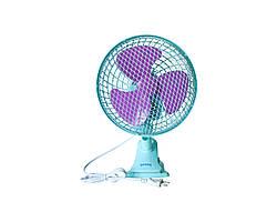 Настольный вентилятор Rainberg 9304 с прищепкой Голубой (2393)