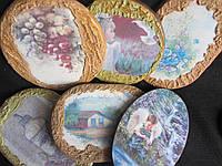 Распродажа! Картинки деревянные ручной работы (декупаж), 17,5х12,5 см,25\20