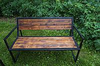 Скамейка парковая стиле LOFT (Street Bench - 35)