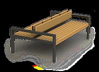 Скамейка парковая стиле LOFT (Street Bench - 46)