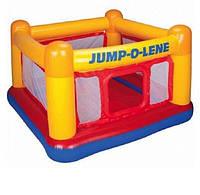 Надувной батут INTEX 48260 квадратный игрушечный центр JUMP-O-LENE