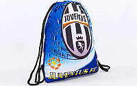 Рюкзак-мешок GA-4433-JUV JUVENTUS (нейлон, р-р 39х49см, синий)