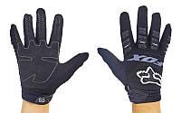Мотоперчатки текстильные с закрытыми пальцами FOX M-4538-BW 360 (р-р M-XL, черный)