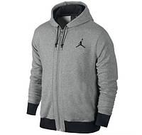 Утепленный спортивный костюм, костюм на флисе Jordan, серый, хлопковый, ф3312