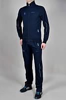 Спортивный костюм Адидас, мужской костюм Adidas, тёмно-синий костюм, с лампасами, трикотажный
