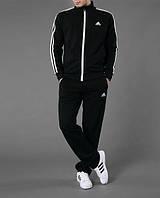 Спортивный костюм Adidas, черный костюм, с лампасами, ф2977