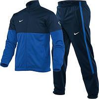 Спортивный костюм Найк, мужской костюм Nike, темно-синяя кофта, синие штаны, темно-синие штаны, трикотажный