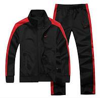 Спортивный костюм Nike, эластик, черный с красными вставками, ф3190