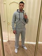 Спортивный костюм найк, серый кенгуру, со змейкой, ф3078