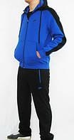 Спортивный костюм Nike, синий верх со змейкой, черный низ, ф3123