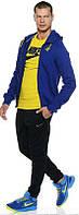 Спортивный костюм Nike, синий верх, черный низ, ф3147