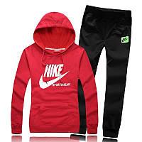 Спортивный костюм Nike, красный верх, черный низ, ф3169