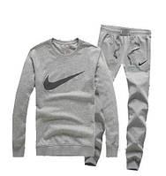 Теплый спортивный костюм, костюм на флисе Nike серый, хлопок, индонезия, ф3354