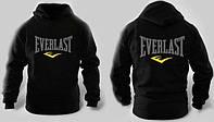 Спортивный костюм Еверласт, мужской костюм Everlast, черный кенгуру, трикотажный