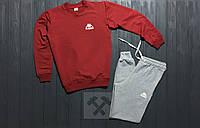 Спортивный костюм Kappa красный с серым (Реплика)