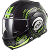 Мотошлем LS2 FF399 VALIANT NUCLEUS BLACH (зелёный)