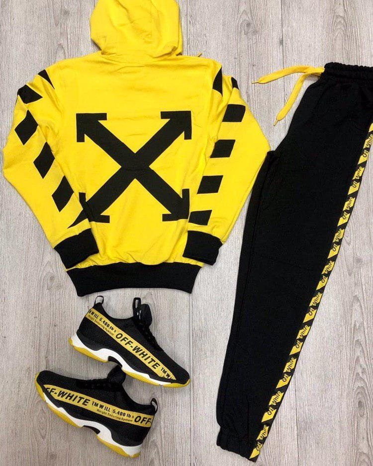 Мужской спортивный костюм Off White Portuguese yellow