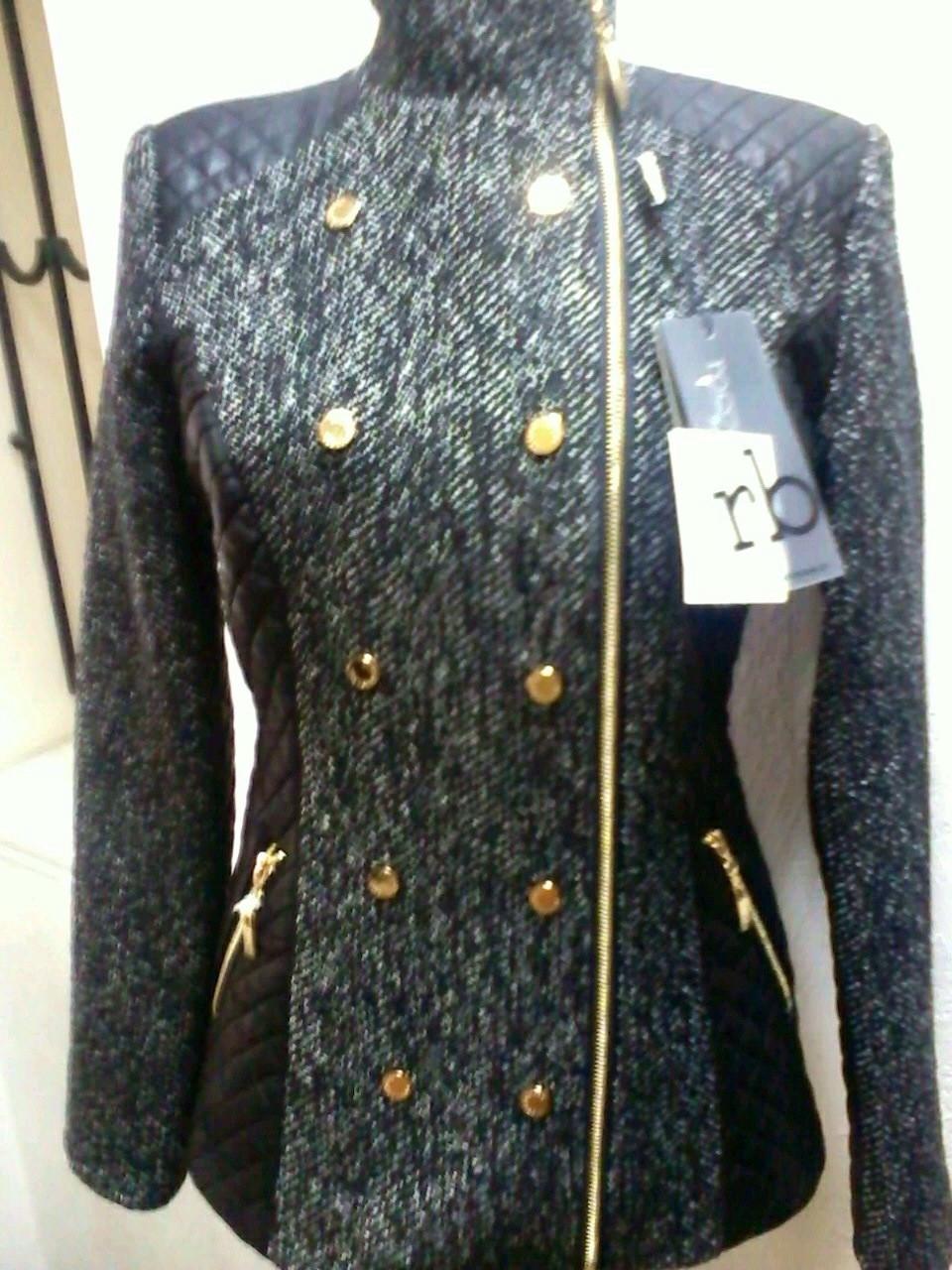 Куртка пиджак женская в стиле Roccobarocco твидовая двубортная