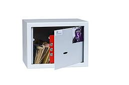 Сейф мебельный с ключевым замком для дома, офиса БС-15К.7035 (ШхВхГ-210х150х170 мм)