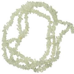 Бусины Сколы Горный Хрусталь Крошка Мелкая, Размер: 4-9*3-5 мм., Отв. 1 мм., около 85 см. нить